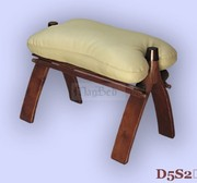 New Handmade Leather - Wooden Stool / Footstool