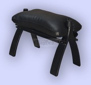 Handmade leather/wooden CAMEL footstool/stool