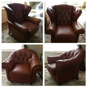 Real soft leather armchairs